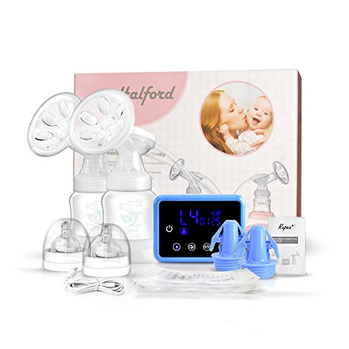 Breast Pump, Bellababy Portable Silicone Breastfeeding Pumps with Lid, BPA Free & 100% Food Grade Silicone, Small & Discreet Breast Milk Pump for Mother (Blue-03)
