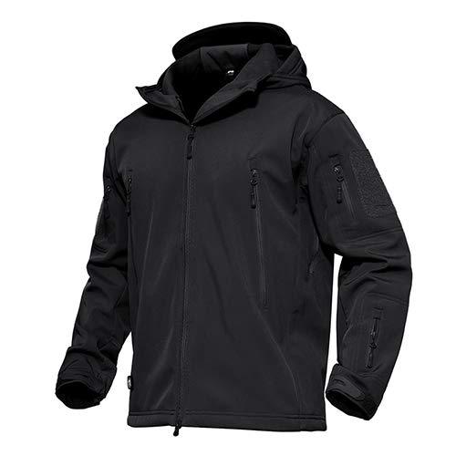 Tarnung Shjzom Mens Military Tactical Coats Softshell wasserdicht Winddicht Combat Windbreaker Kleidung Jacke Black L Wool Field Coat