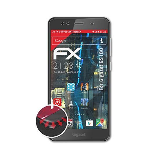 atFolix Schutzfolie passend für Gigaset GS180 Folie, entspiegelnde & Flexible FX Bildschirmschutzfolie (3X)