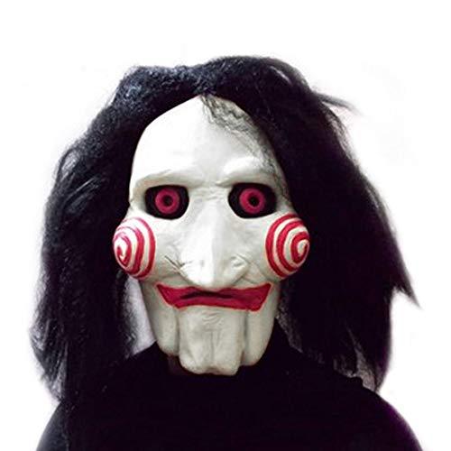 Film Saw Chainsaw Massaker Jigsaw Puppet Masken Latex Creepy Halloween-geschenk Vollmaske Scary Prop Unisex Party Cosplay Vorräte