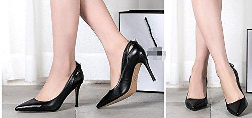 Lady talons d'Angleterre au printemps/Cuir d'agneau cuir chaussures femme/Chaussures à talon B
