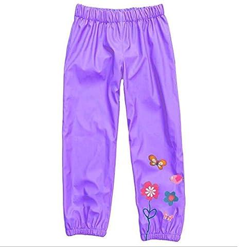 Highdas Enfants Windproof & Imperméable Pantalon Rain-Suit Trouse Purple / 110cm