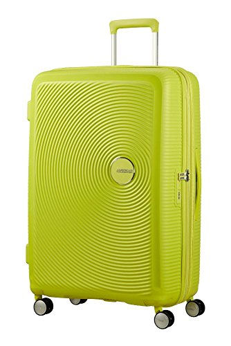 American Tourister – Soundbox Spinner Expandible, 55cm, 35,5/41 L – 2,6 KG, Verde (Tropical Lime)
