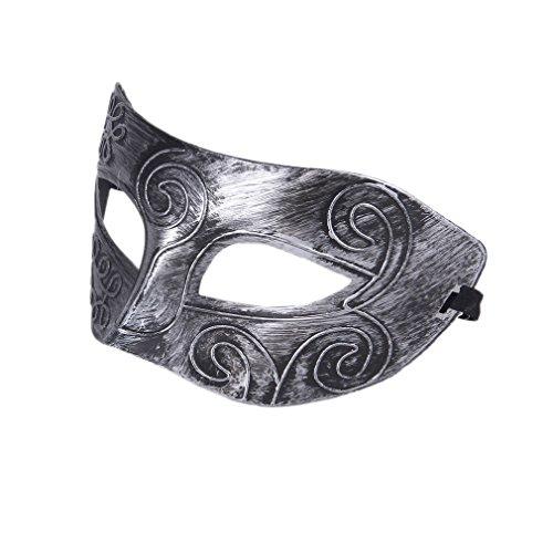 EOZY Venecia Máscara De Ojos Para Partido/Fiesta/Masquerade De Hombre Mujer Plateado