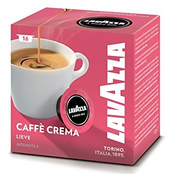 Lavazza A Modo Mio Caffè Crema Lieve Coffee Capsules (4 Pack 16)