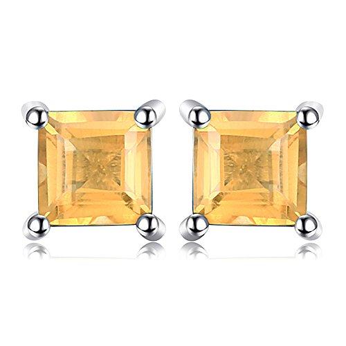 JewelryPalace Pendientes adornado Citrino cuadrado...