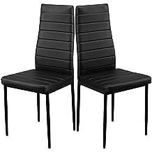 1home le sedie moderne di ecopelle adatta pranzo tavolo nella cucina con le gambe in metallo e schienale