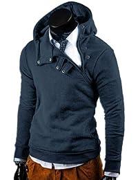 MT Styles Hoodie pull avec capuche contrasté S-135