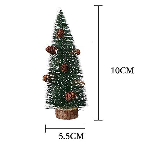 xmansky Für Weihnachten Halloween Party, Zuhause, Kamin, Hotel, Bar,Mini Pine Needle Weihnachtsbaumparty-Dekoration, die klebrigen weißen Schnee-Baum Sich schart