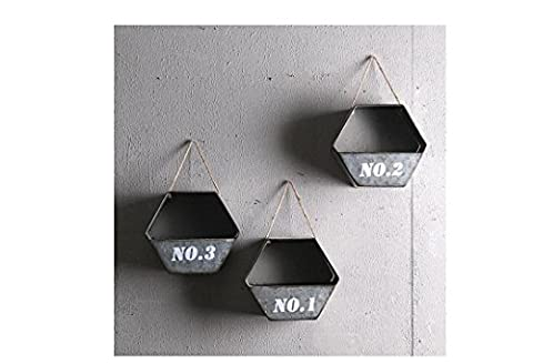Beauqueen Retro Wall Pendant Creative Home Flower Stand Decorations Wall Decoration Milk Tea Shop Cafe Wall Decoration , Color-2
