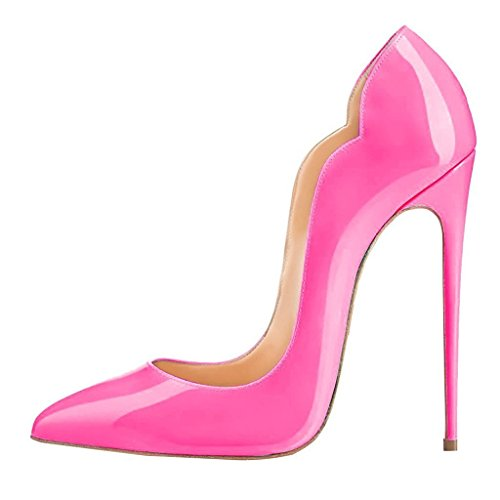 uBeauty Escarpins Femmes Chaussures Stiletto Soles Rouge Talon Aiguille Grande Taille Laçage Rose