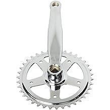 Point 02004200 - Bielas y plato de bicicleta (38 dientes, longitud de manivela: 170 mm, acero)