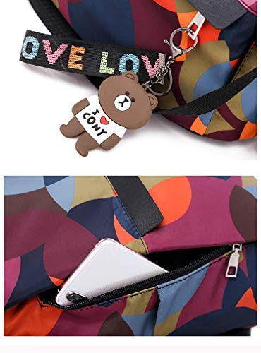 MOCA Women's Nylon Mini Small Anti-Theft Rucksack Travel Backpack (Multicolour) Image 7