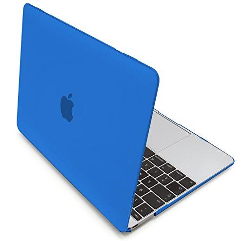 MyGadget Hülle Hard Case [Matt] - für Apple MacBook 12 Zoll Retina (ab 2015) mit USB C (A1534) - Schutzhülle Hartschalen Tasche Plastik Cover in Blau
