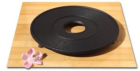 Dessous de théière en fonte Noir Ø 18 cm