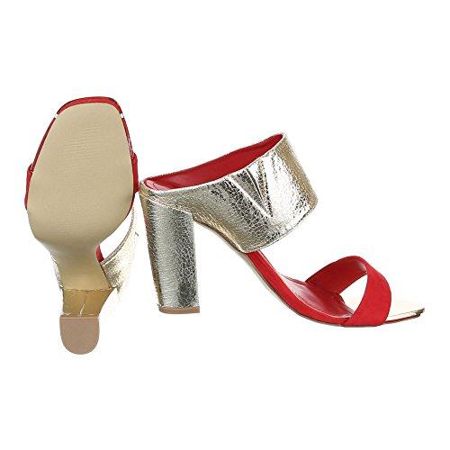 Ital-Design, Sandali donna Oro rosso