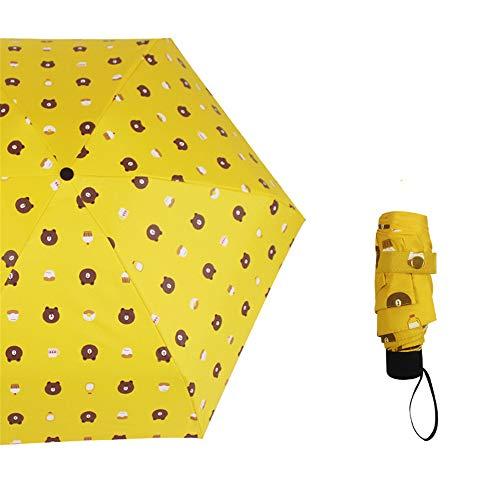 JUNDY Regenschirm Taschenschirm Winddicht Kompakt Leicht Stabiler Schirm Transportabel Sonnenschutz Taschenschirm 50% Sonnenschirm Farbe5 90cm