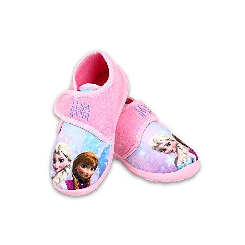FrozenAnnaElsa Disney Frozen Elsa & Anna - Tolle Geschenkidee für Kinder - Hausschuhe/Laufschuhe/Pantoffeln für Mädchen Pink (27)
