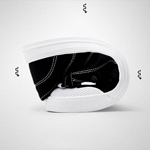Xueqin Chaussures De Mode Pour Homme Et Femme Chaussures Toile Signage (couleur: Jaune, Dimensions: Eu39 / Uk6 / Cn39) Noir
