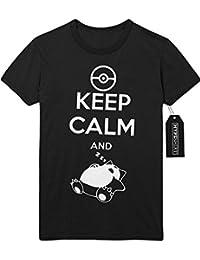 T-Shirt Pokemon Go Keep Calm and Relaxo Team Rocket Jessie James Mauzi Kanto 1996 Blue Version Pokeball Catch 'Em All Hype X Y Nintendo Blue Red Yellow Plus Hype Nerd Game C210009