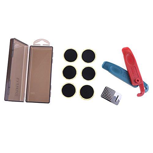 broadroot Fahrrad Flat Tire Reifen Repair Werkzeug Set Kit Gummi Patch Kleber Hebel Sets, schwarz (Einreichung Kit)