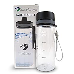 StayActive 600ml Leak Proof Plastic Sports Water Bottle