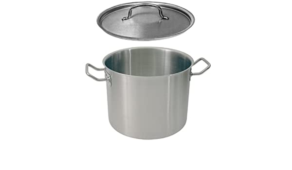 9 Litres Stock Pot with Lid and Pouring Edge CNS Diameter 24 CM
