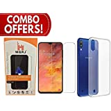 M.G.R.J® Transparent Back Cover and Tempered Glass for Samsung Galaxy M10 (Combo Pack)