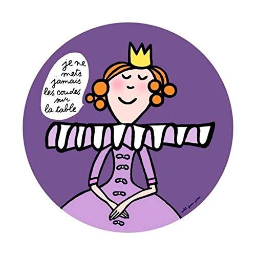 Assiette Princesse enfant Coudes sur la table - Petit Jour Paris