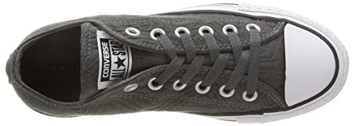 Converse Ct Jersey Quilt, Sneakers Basses femme Gris Anthracite