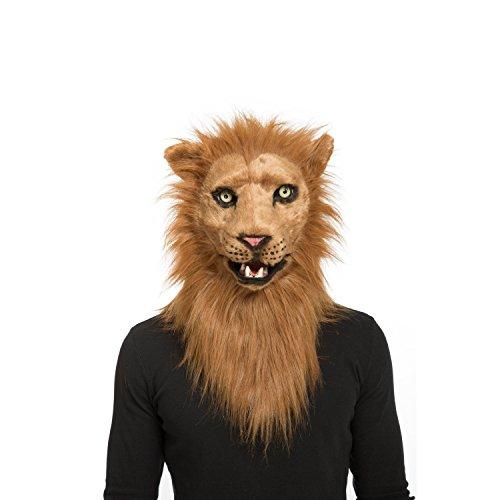 viving Kostüme viving costumes204679Löwe Maske mit beweglichen Kiefer (One Size) (Maske Löwe Kostüm)