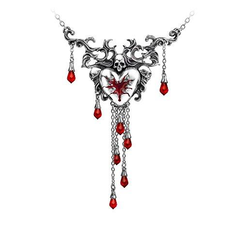 Alchemy Blutendes Herz Halskette silber (Herz Blutendes)