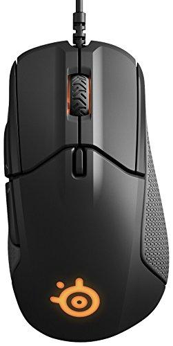 SteelSeries Rival 310, optische Gaming-Maus, RGB-Beleuchtung, 6 Tasten, seitliche Gummigriffe, integrierter Speicher, Farbe schwarz