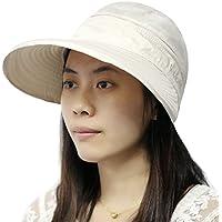 fletion Mujer Verano sombrero Ciclismo UV Sol Protección contra Sombreros al aire libre Parasol Tapa de golf de tenis Beige beige
