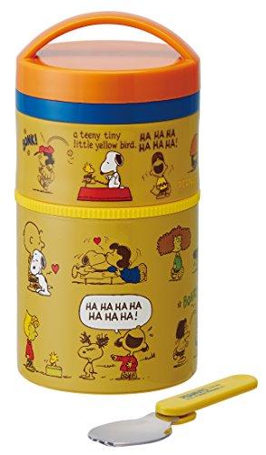 Bottle type two-stage heat insulation lunch jar 400ml Snoopy u0026 Friends LJLRT4 by Skater