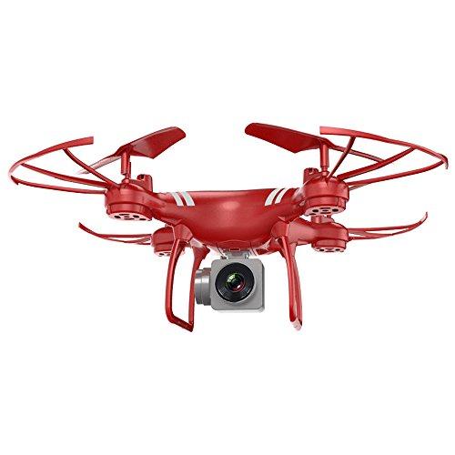 HuhuaWeitwinkel Objektiv HD Kamera Quadcopter RC Drone WiFi FPV Live Hubschrauber Hover (rot)