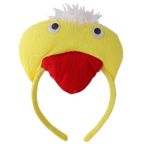 Plush Animal Duck Headband - Yellow (1f390) - Kids Cartoon Animal Theme Party props