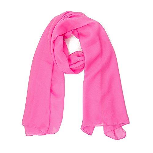 ManuMar Schal für Damen   feines Hals-Tuch in rosa Unisex-Farben Uni-farben als perfektes Sommer-Accessoire   Das ideale Geschenk für Frauen (Farben Kleidungsstück 100% Komfort)