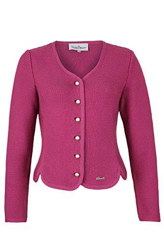 Damen Turi Landhaus Dirndljacke Strick pink, 320 Himbeere Pink, 38