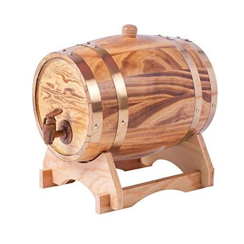 ZCjt Eichenfass Holzfass for die Lagerung oder Alterung von Wein Spirituosen Vintage-Stil Tabletop Weinspender Barware Weinzubehör Weinfässer Wohnmöbel (Size : 20 liters) Vintage Barware