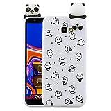 HopMore Silicona Funda para Samsung Galaxy J4 Plus (J4+) 2018 Dibujo 3D Unicorn Panda Divertidas TPU Kawaii Ultrafina Slim Case Antigolpes Caso Protección Cover Design Gracioso - Pequeño Panda