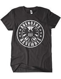 The Avengers Assemble T shirt - Avengers Assemble Logo In Black