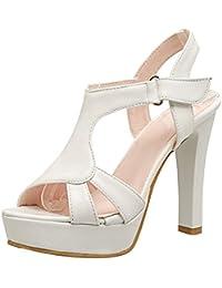 Sandali bianchi con allacciatura elasticizzata per donna Minetom