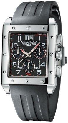 Raymond Weil Men's Tango Black Rubber Band Swiss Quartz Watch 4881-SR-05200