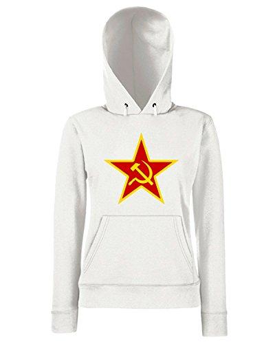 T-Shirtshock - Sweats a capuche Femme TCO0152 stella-comunista Blanc