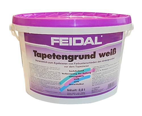 Feidal 2,5 L. Tapetengrund Weiß, Voranstrich, egalisieren von Farbunterschieden, vor dem Tapezieren
