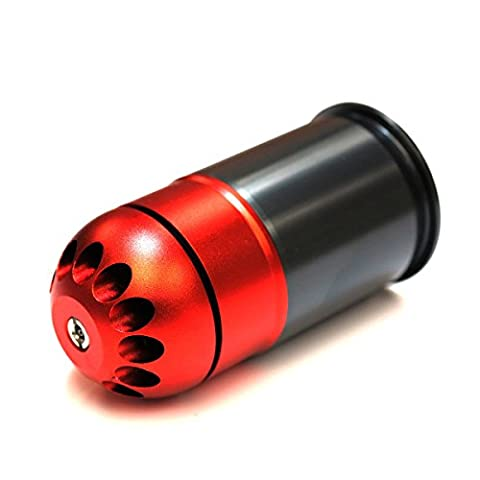Airsoft Wargame Tactical Shooting GearSHS 72rd 40mm Grenade Gas Cartridge Shell Red/Grey