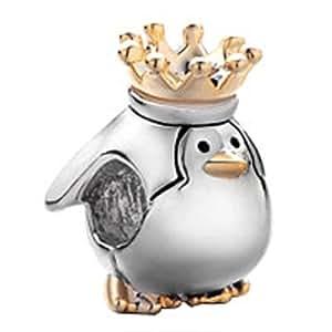 pinguin king krone charms tier beads neuen verkauf billig geschenk f r pandora chamilia charm. Black Bedroom Furniture Sets. Home Design Ideas