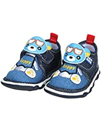 Mee Mee First Walk Baby Shoes with Chu Chu Sound (24 EU, Denim)