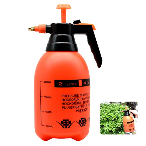 ZHONG AN pulvérisateur à Pression 2L avec buse en Laiton réglable, atomiseur à Pompe de Haute qualité, pour Plantes de la Maison et Le Jardin (2L)